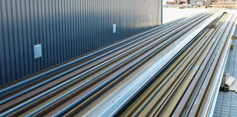Industrilakering af jernbaneskinner