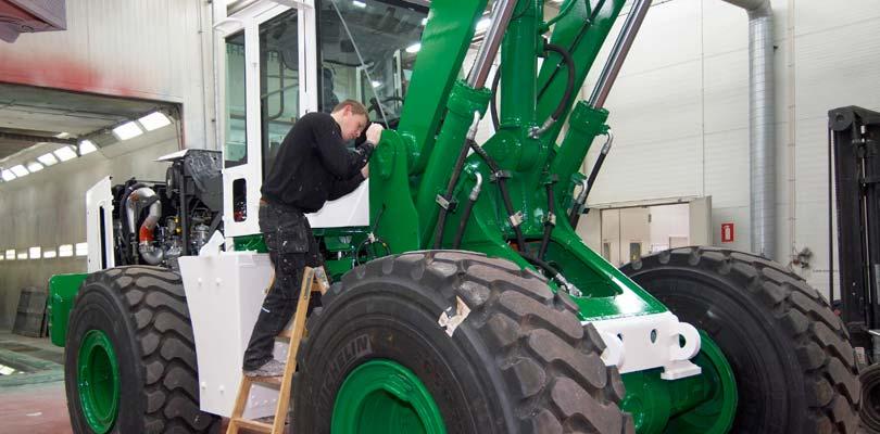 Maskinlakering - lakering af entreprenørmaskiner op til 100 tons