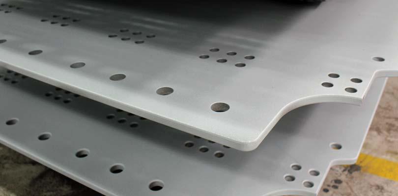 Metallisering af stålemner i Middelfart